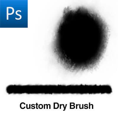 一个简单的粉饰笔触类型PS笔刷素材下载