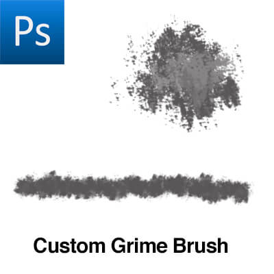 一个污渍纹理效果PS笔刷素材下载