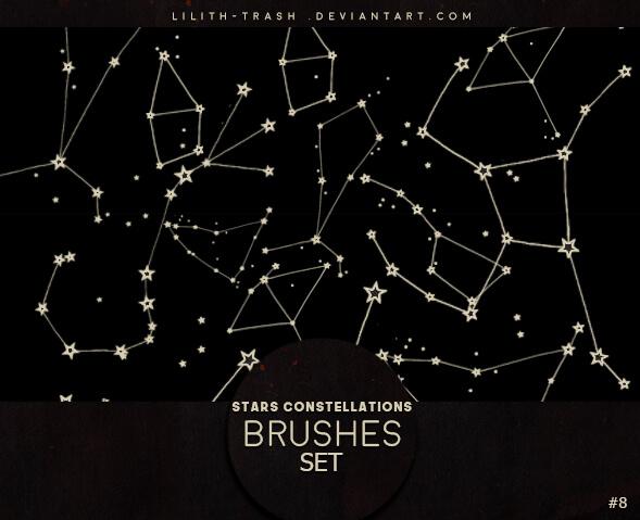 星空星星图案Photoshop笔刷素材下载