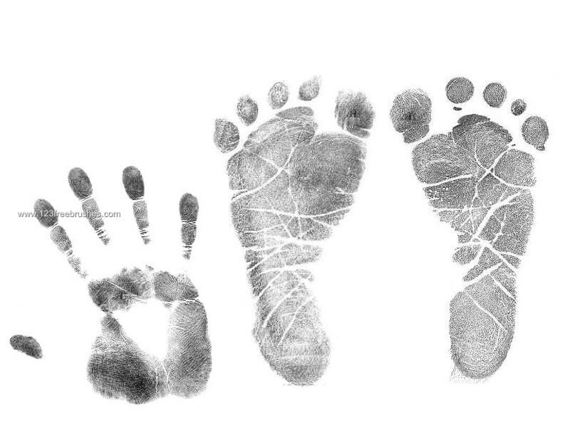 手印、掌印、脚印、脚纹图案Photoshop笔刷素材