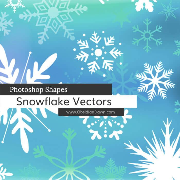 漂亮的矢量式雪花花纹图案photoshop自定义形状素材 .csh 下载