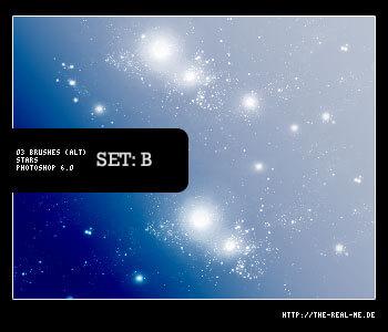 星空背景、深空宇宙PS笔刷素材下载