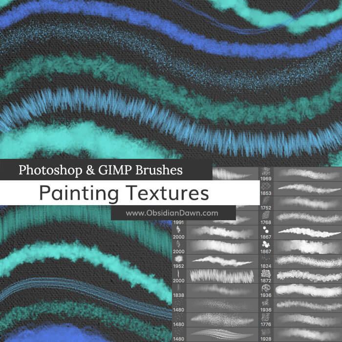 绘画材质类型Photoshop笔刷素材下载