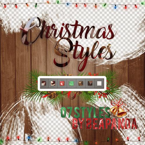 圣诞节、节日装扮Photoshop自定义样式风格素材下载 .asl 圣诞节笔刷  adornment brushes
