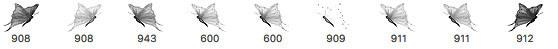 漂亮梦幻的蝴蝶Photoshop昆虫笔刷