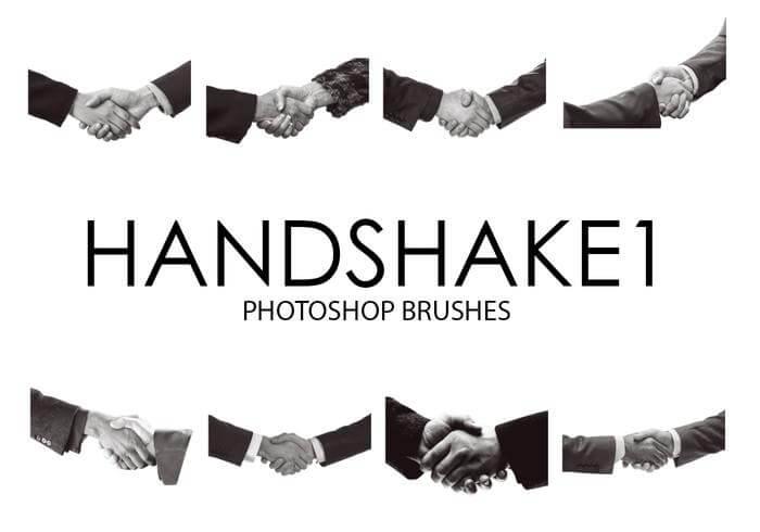 握手的姿势、双赢、合作握手PS笔刷素材下载