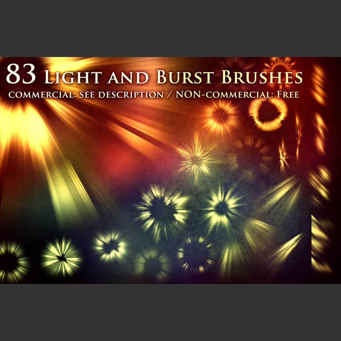 83种光耀、光斑、太阳光线、辐射、 太阳光束等光源光影特效PS笔刷素材下载