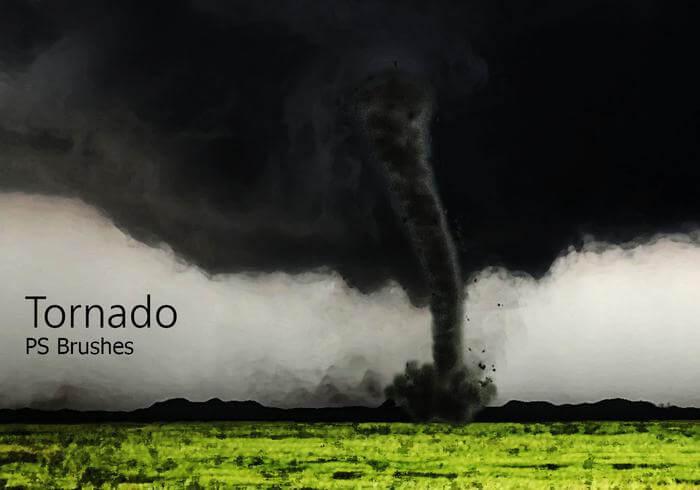 20种龙卷风、旋风、飓风、漩涡等天气场景PS笔刷素材下载