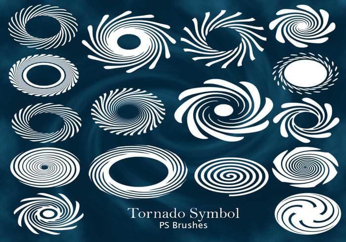 20种漩涡花纹图案、漩涡纹理印花PS笔刷素材下载 漩涡花纹笔刷  flowers brushes