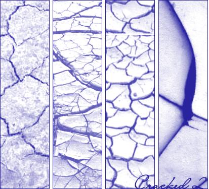 地面干旱、地表龟裂、土地干涸纹理PS笔刷素材下载