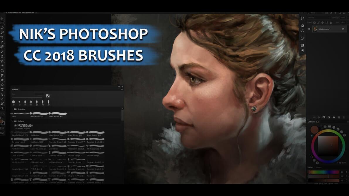 尼克的CG绘画、插画艺术创作PS笔刷素材