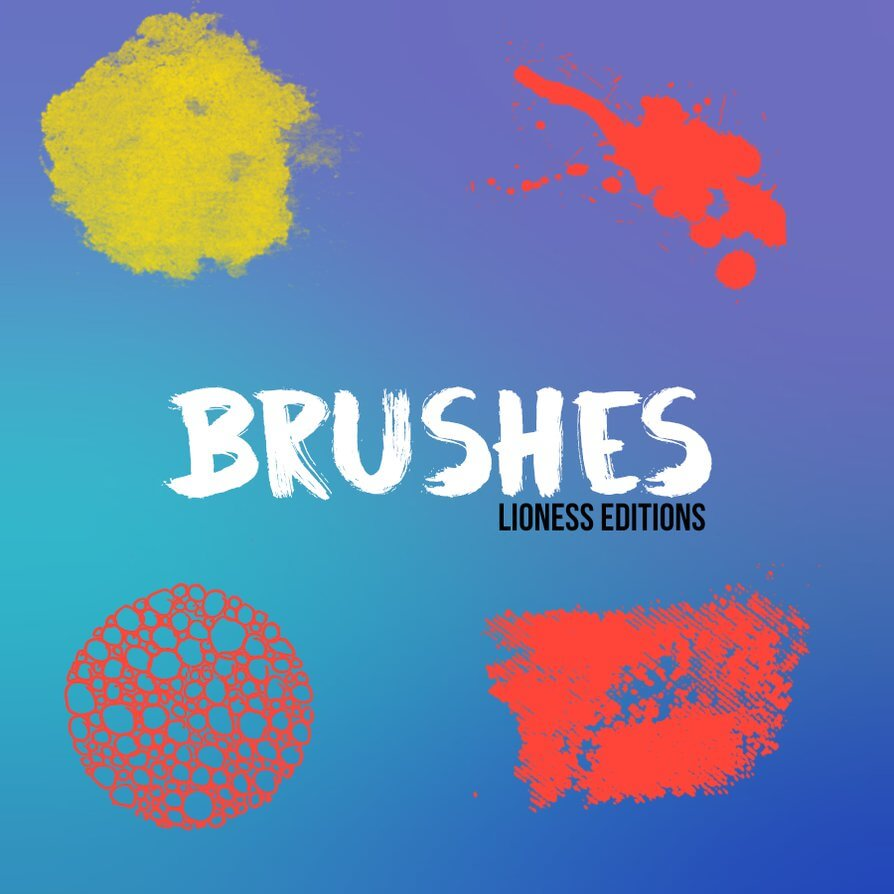 简单油漆涂抹痕迹、污染污渍效果Photoshop笔刷免费下载