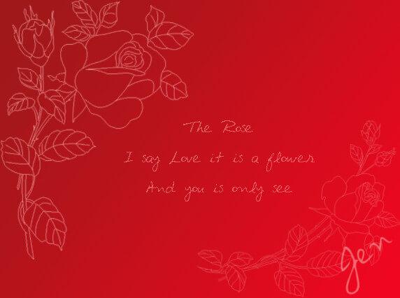 手绘玫瑰花线框花纹图案Photoshop笔刷素材下载