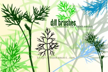 松针叶植物叶子PS笔刷素材下载 松针叶笔刷 叶子笔刷  plants brushes
