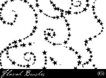 星星点缀线条图案PS装饰笔刷 梦幻场景笔刷 星星装饰笔刷 星星笔刷  adornment brushes