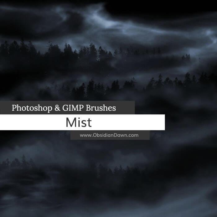真实的大自然浓雾、迷雾、雾气、水汽、烟雾、水蒸气效果Photoshop笔刷素材