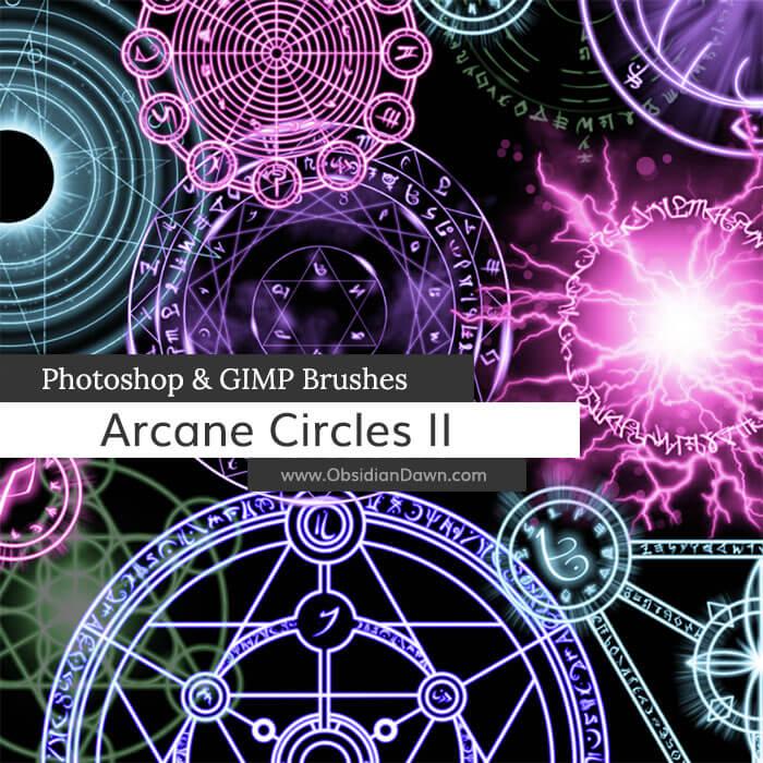 神秘魔法阵效果、宗教阵法、五星芒阵法Photoshop笔刷素材下载