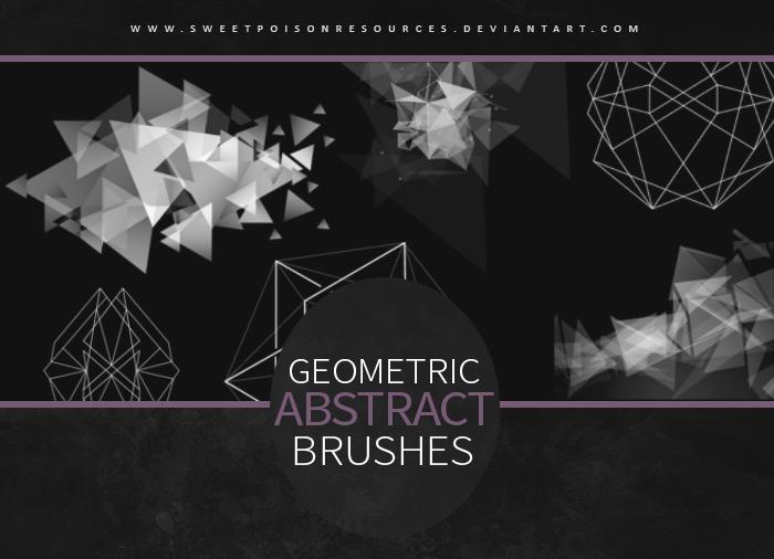 几何抽象三角形背景装饰图案PS笔刷素材下载 背景三角笔刷 时尚装饰笔刷  flowers brushes background brushes