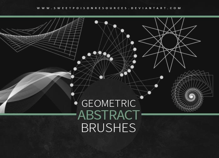 几何抽象科学、数学图形图案PS笔刷素材