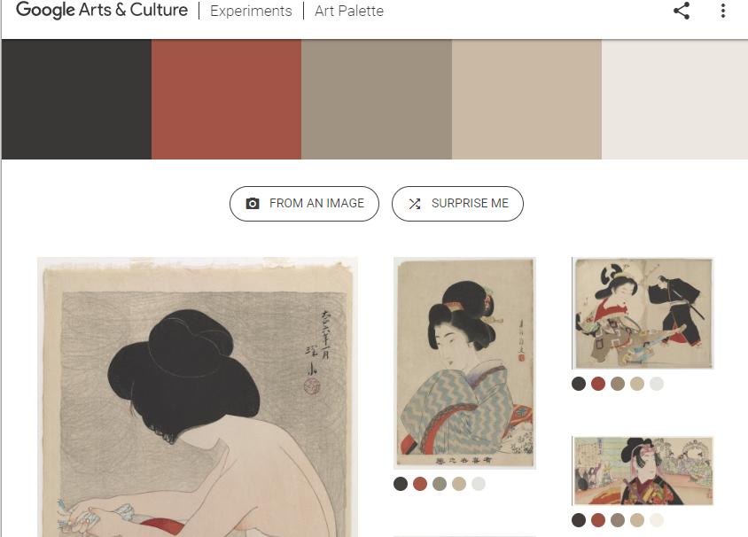 利用 AI 技术来给你的设计提供配色方案 - Google Art Palette