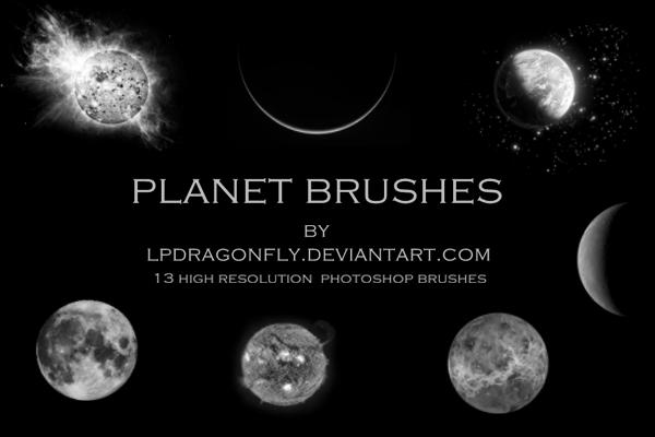 行星、星球等宇宙背景效果PS笔刷素材下载