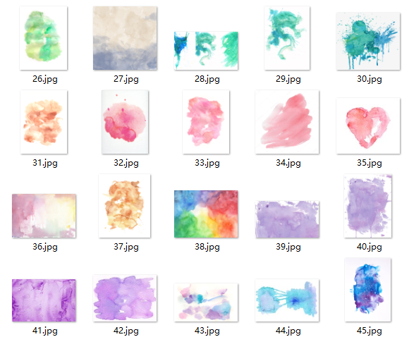 真实的油墨水彩痕迹PS笔刷素材下载(JPG图片格式)