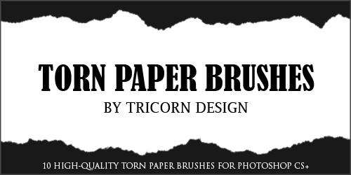 撕纸效果边界Photoshop笔刷素材下载