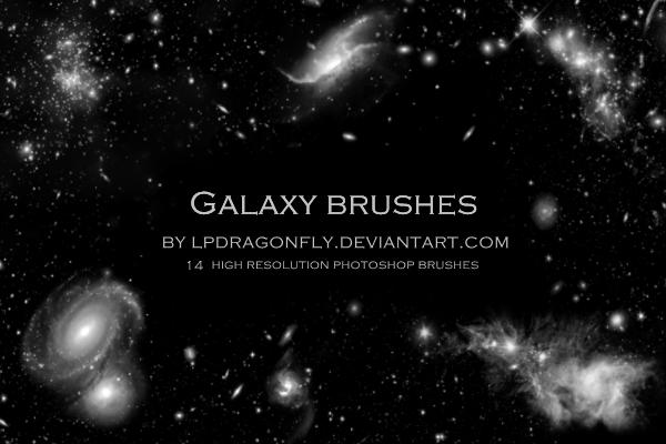 14钟高质量的银河系宇宙深空背景贴图Photoshop素材笔刷下载