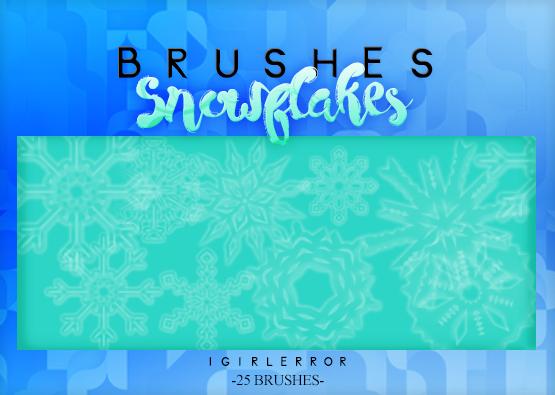 雪花图案、冰晶花纹、万花筒花纹图案Photoshop笔刷素材下载