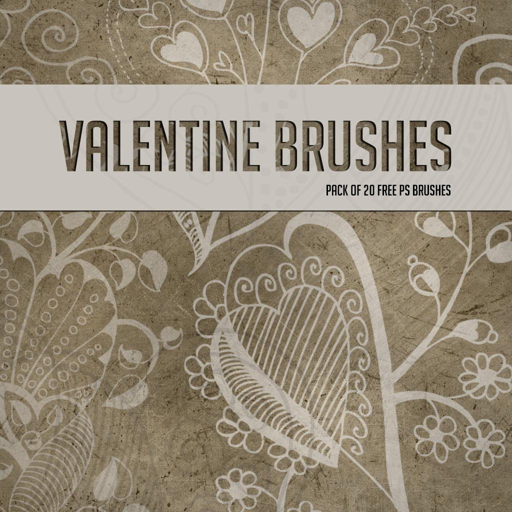20种植物花纹标记图案、印花花纹装饰Photoshop笔刷素材下载