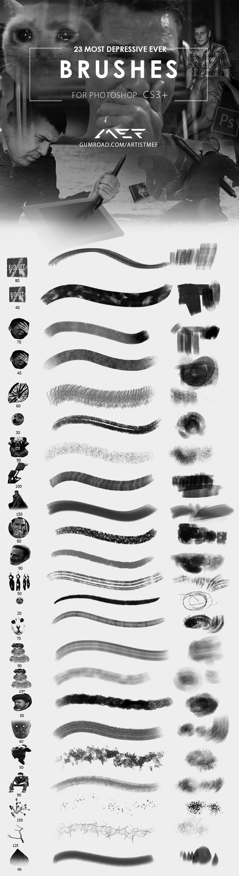 另类奇葩的概念抽象画笔笔触Photoshop绘画笔刷素材 绘画笔刷  photoshop brush