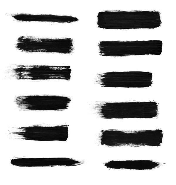 高清刷子涂痕笔迹效果Photoshop笔刷素材下载 刷子笔刷  %e6%b2%b9%e6%bc%86%e7%ac%94%e5%88%b7