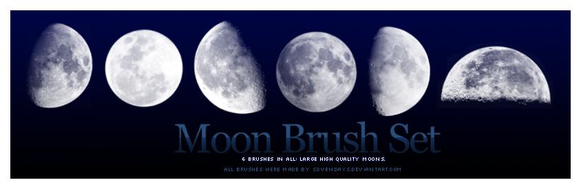 6种月食变化效果素材、上弦月、下弦月、满月、新月、残月效果PS笔刷素材下载 月食笔刷 月亮笔刷  %e5%ae%87%e5%ae%99%e7%ac%94%e5%88%b7