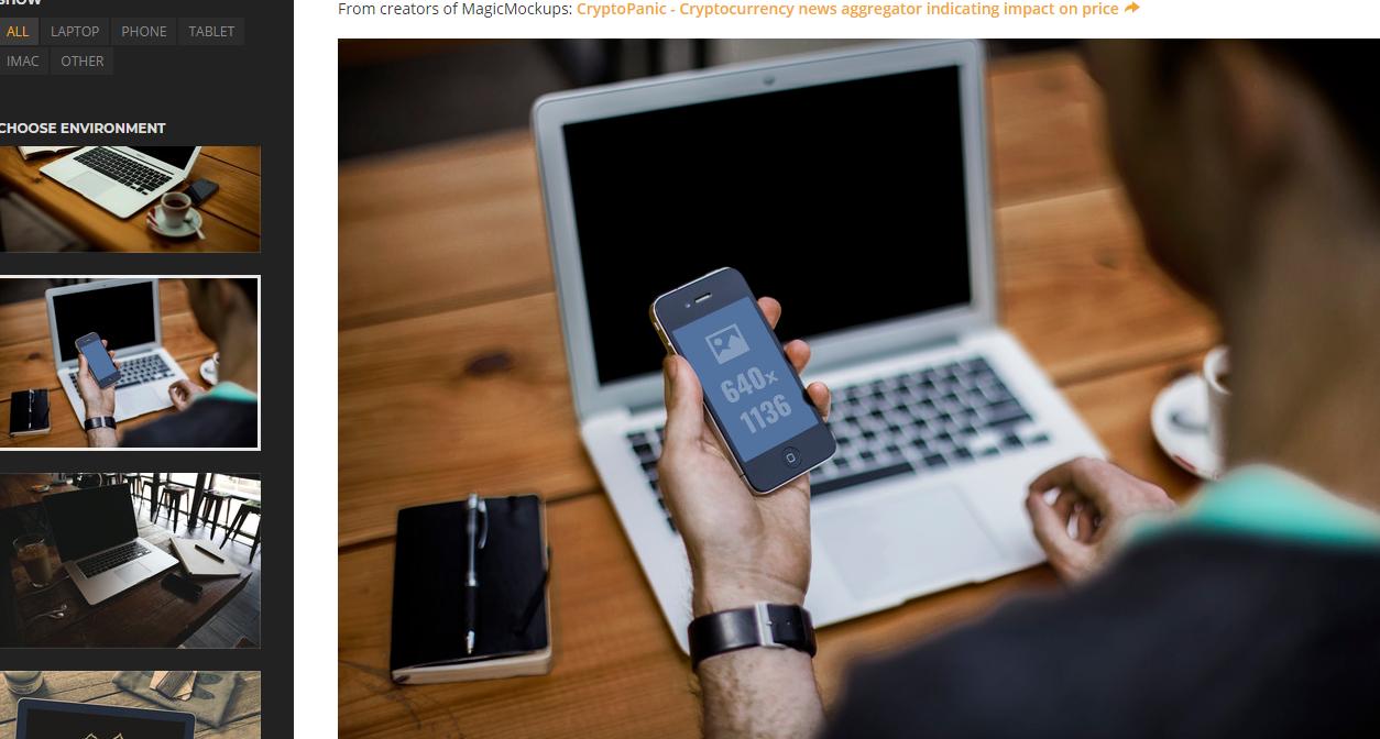 一键将你的设计作品展示到 iPhone、iPad、iMac、MacBook 屏幕中去 - Magic Mockups
