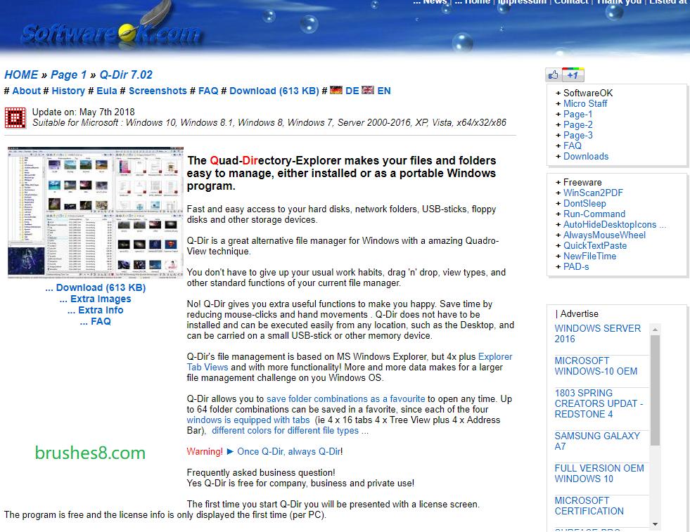 超实用多窗口切换软件 - Q-Dir 文件管理器