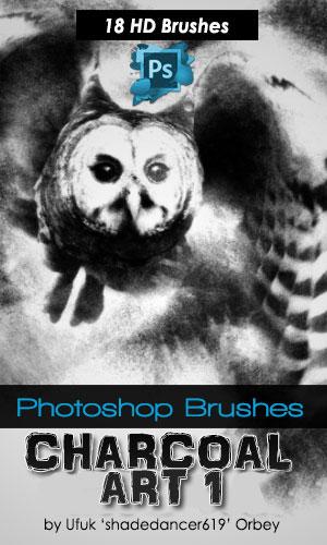 18种是艺术绘画碳素铅笔效果Photoshop素描笔刷免费下载