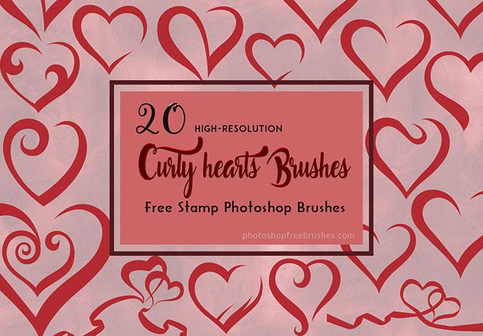 20种漂亮的爱心涂鸦艺术Photoshop情人节笔刷下载