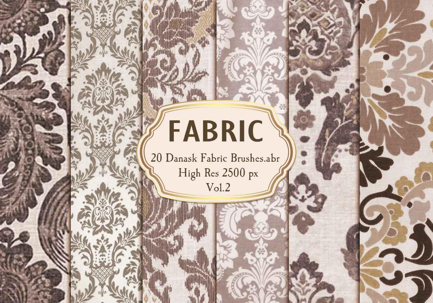 20种编织物式印花图案、经典欧式花纹纹理Photoshop笔刷素材下载