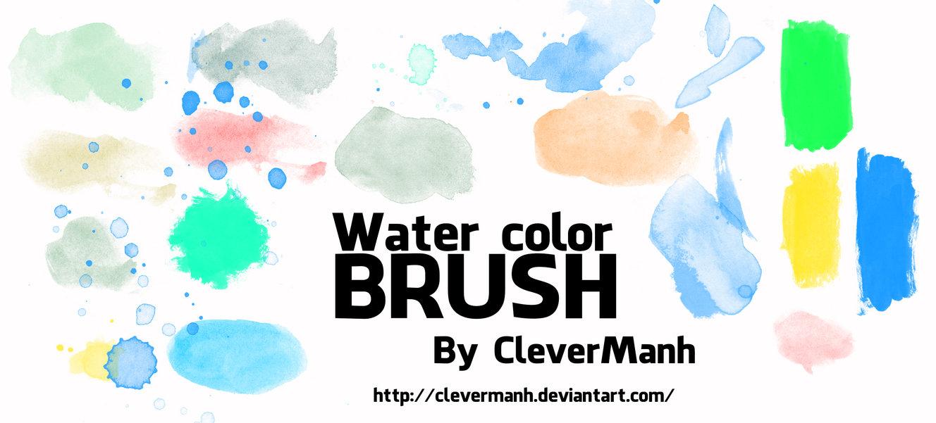 高清水彩风格痕迹纹理PS笔刷素材下载