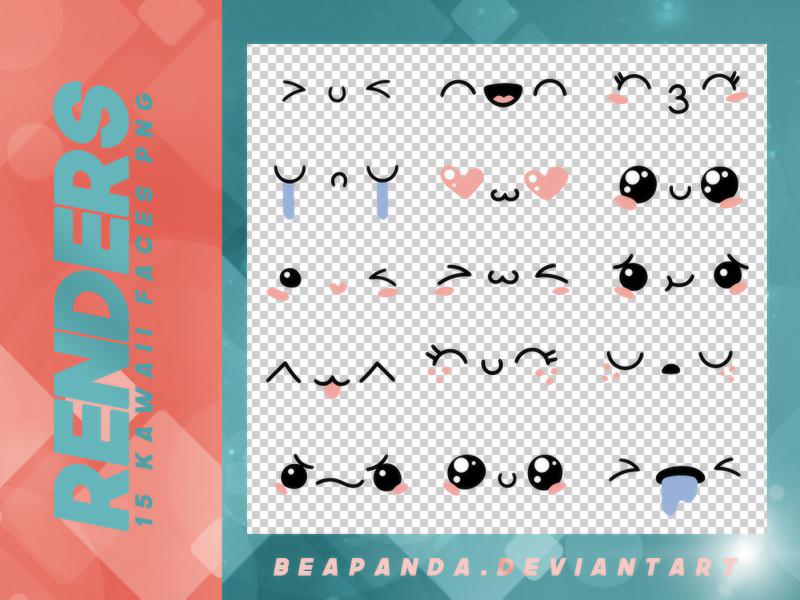 15种可爱表情图片韩国笔刷风格下载(PNG免扣图透明格式)