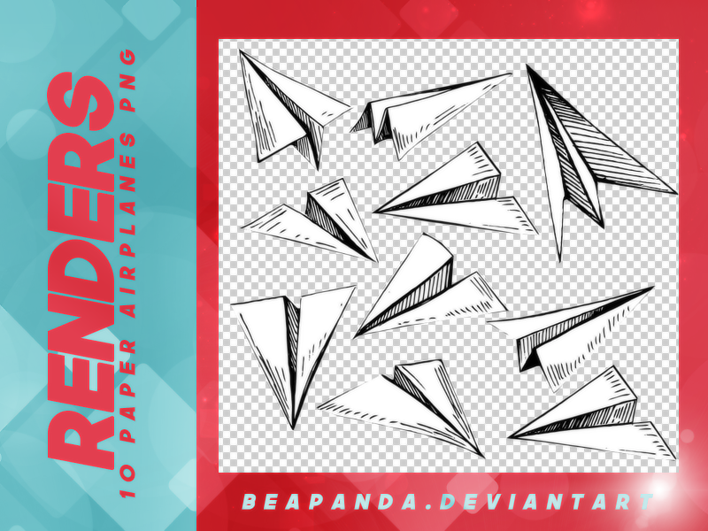 超可爱的纸飞机图形之韩国笔刷风格下载(PNG免扣图透明格式)