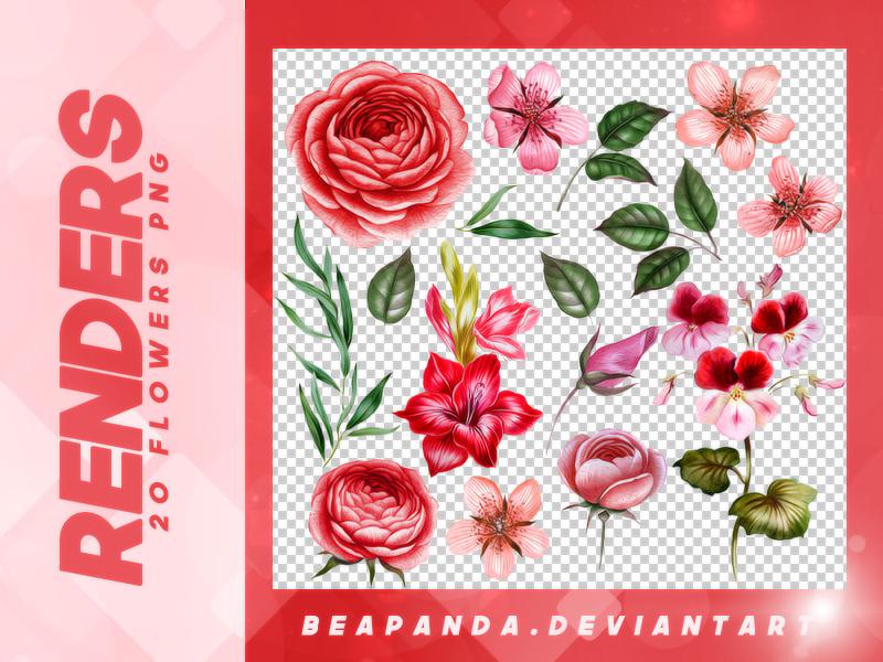 漂亮的鲜花图案PNG格式免扣素材笔刷