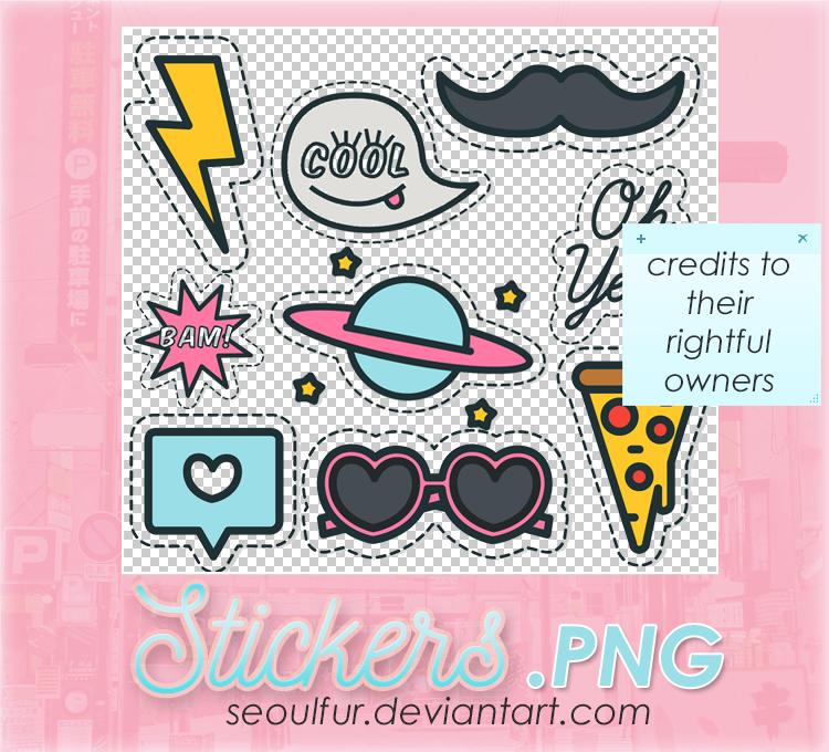 卡哇伊少女美图装扮卡通贴纸元素之韩国笔刷风格下载(PNG免扣图透明格式)