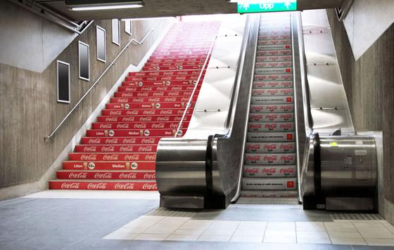 19个创意手扶电梯广告系列