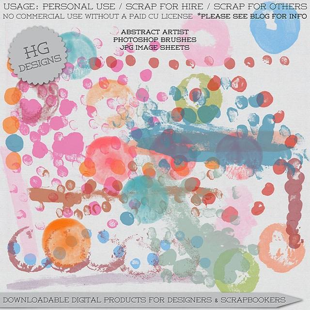 水彩、水墨斑点痕迹纹理Photoshop笔刷素材下载