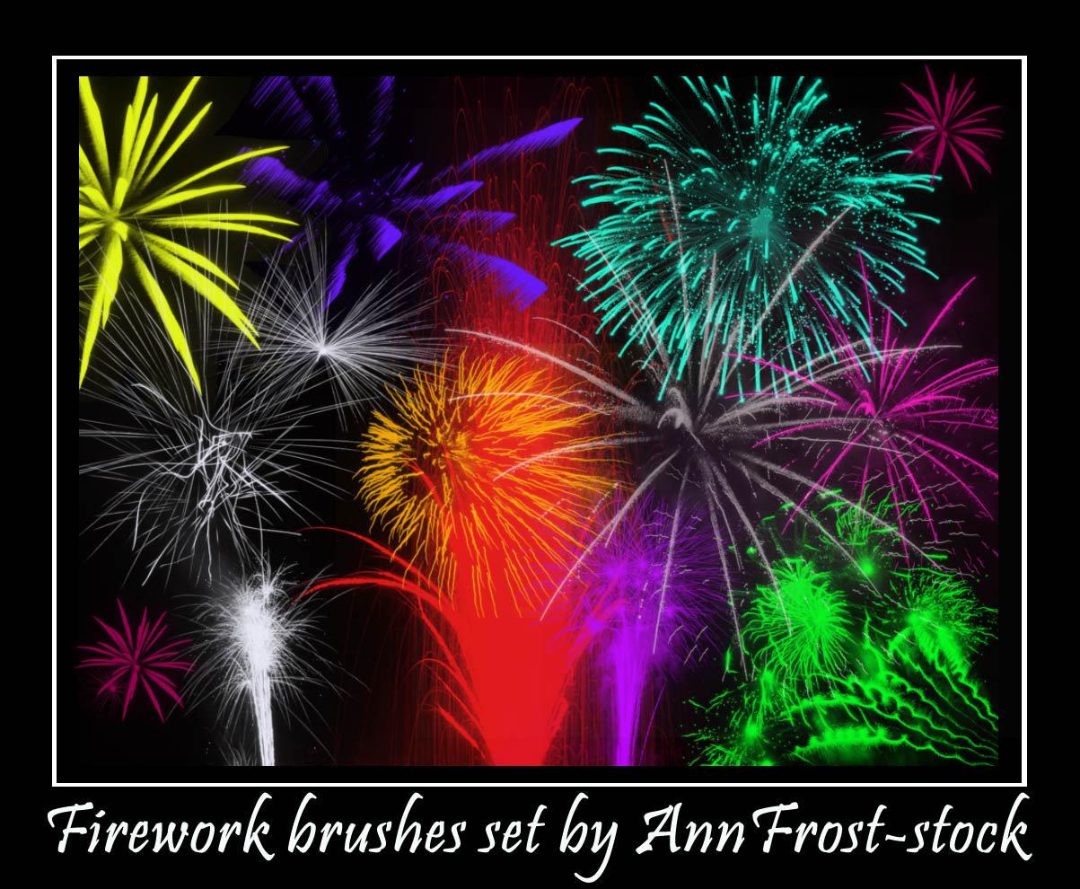 焰火盛典、烟火、烟花、花火大会PS笔刷素材下载