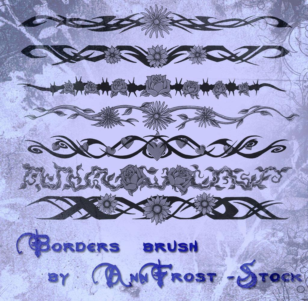 吸血鬼式风格的边框、边界、分割线图案PS笔刷下载