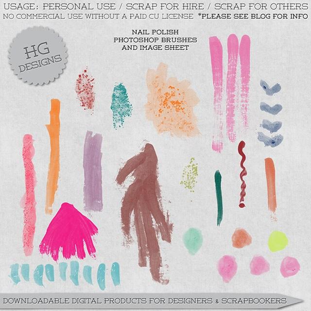 颜料画笔刷子笔触Photoshop笔刷素材