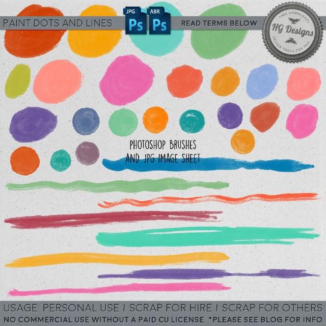 一组油漆水墨笔触效果PS刷子笔刷素材