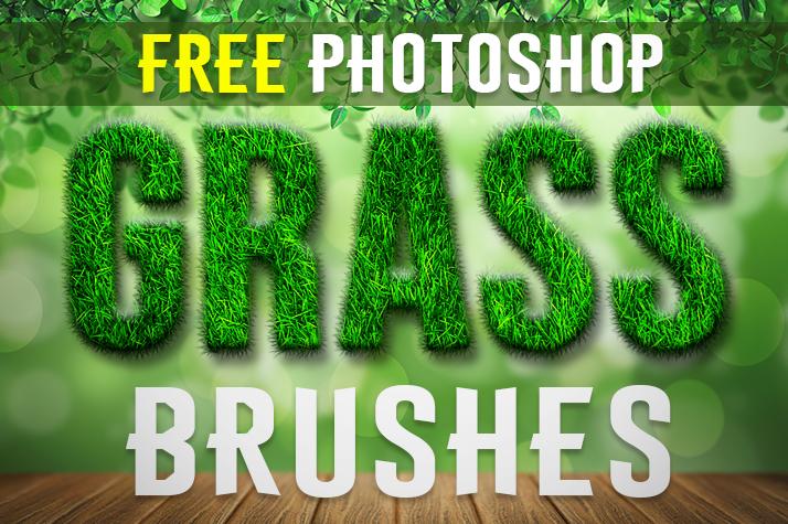 免费的青草、草地纹理、草坪、草皮Photoshop笔刷下载